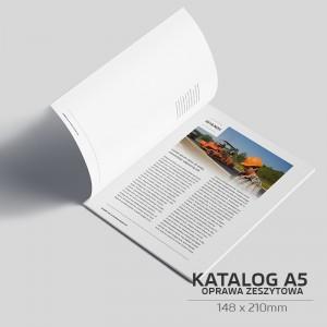 Katalog szyty A5 - 8 stron - 1000szt.