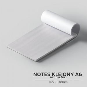 Notes klejony bez okładki A6 - 50szt.