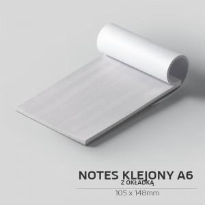 Notes klejony z okładką A6 - 50szt.