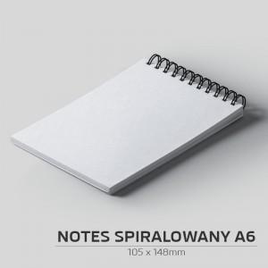 Notes spiralowany A6 - 50szt.