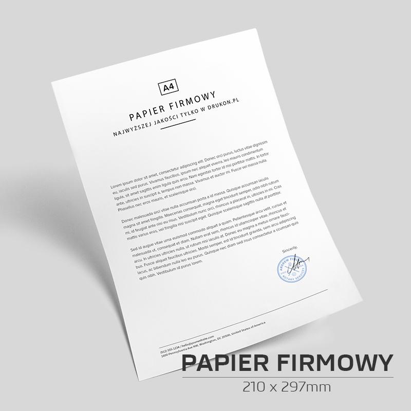 Papier firmowy A4